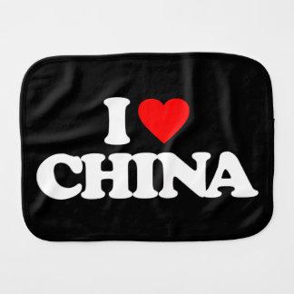 I LOVE CHINA BURP CLOTHS