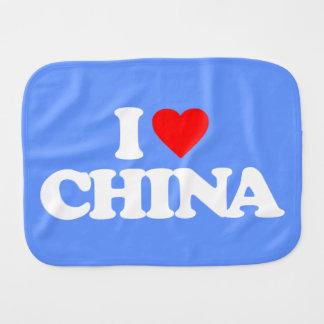 I LOVE CHINA BURP CLOTH