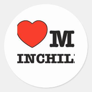 I Love chinchilla Classic Round Sticker