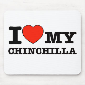 I Love chinchilla Mouse Pad