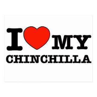 I Love chinchilla Postcard