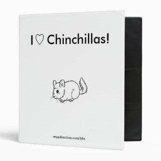 I Love Chinchillas - Custom Binder
