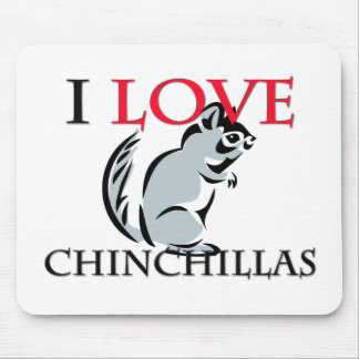 I Love Chinchillas Mouse Pad
