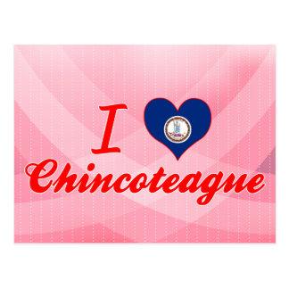 I Love Chincoteague, Virginia Postcard
