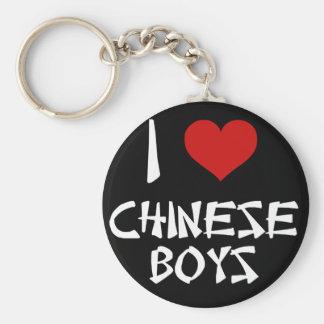 I Love Chinese Boys Basic Round Button Keychain