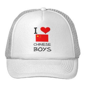 I Love Chinese Boys Trucker Hat