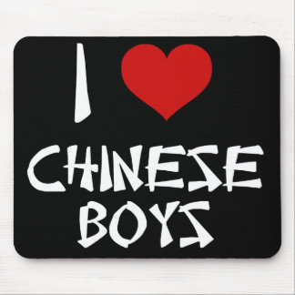 I Love Chinese Boys Mouse Pad