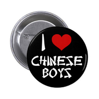 I Love Chinese Boys Pinback Button