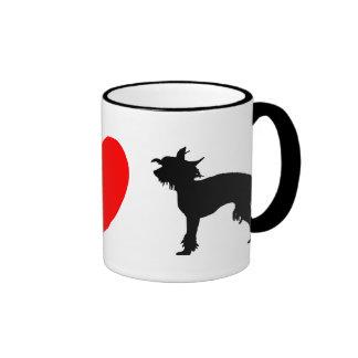 I Love Chinese Cresteds Mug