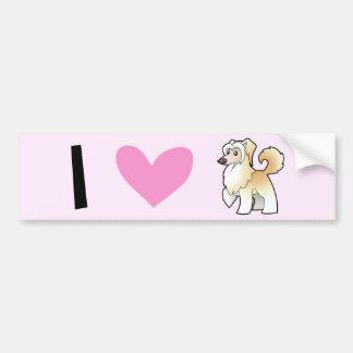 I Love Chinese Cresteds (powderpuff) Car Bumper Sticker