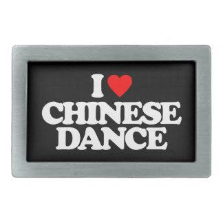 I LOVE CHINESE DANCE RECTANGULAR BELT BUCKLE