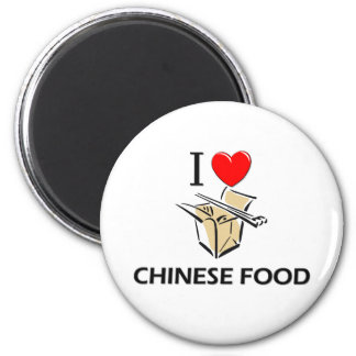 I Love Chinese Food 2 Inch Round Magnet