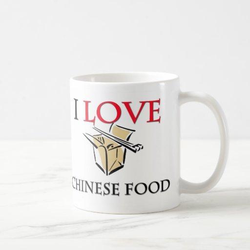 I Love Chinese Food Classic White Coffee Mug