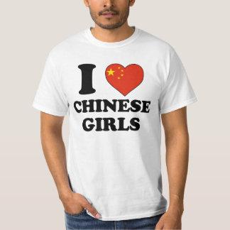 I love Chinese Girls Tee Shirt