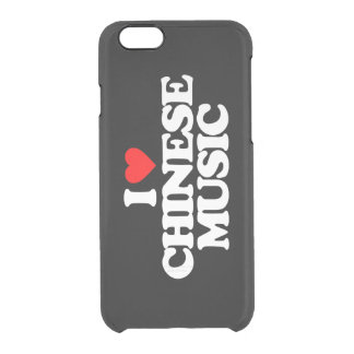 I LOVE CHINESE MUSIC CLEAR iPhone 6/6S CASE