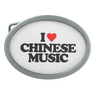 I LOVE CHINESE MUSIC OVAL BELT BUCKLE