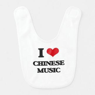 I Love CHINESE MUSIC Bib