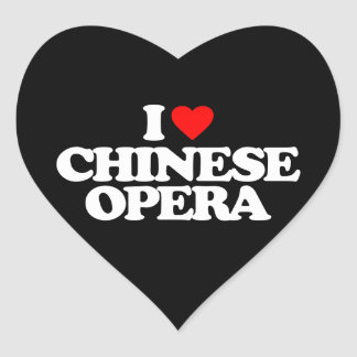 I LOVE CHINESE OPERA HEART STICKER