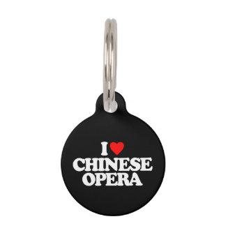 I LOVE CHINESE OPERA PET NAME TAG