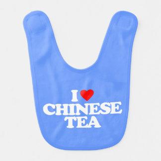 I LOVE CHINESE TEA BABY BIBS