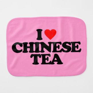 I LOVE CHINESE TEA BABY BURP CLOTHS