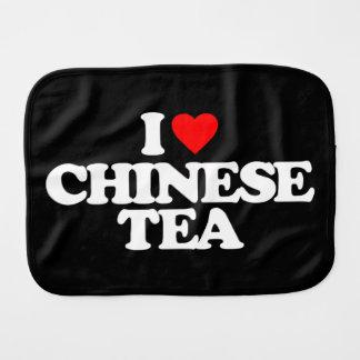 I LOVE CHINESE TEA BABY BURP CLOTH