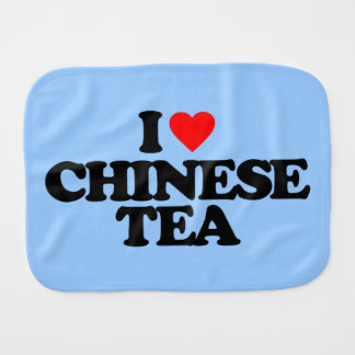 I LOVE CHINESE TEA BURP CLOTH