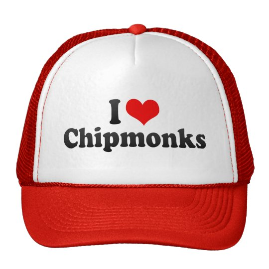 I Love Chipmonks Trucker Hat