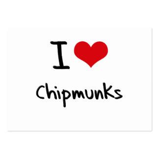 I love Chipmunks Business Card Template