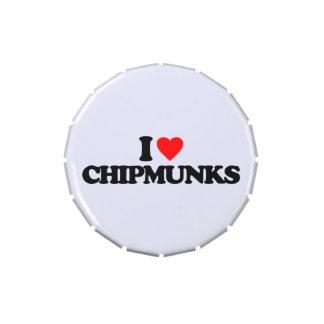 I LOVE CHIPMUNKS CANDY TIN