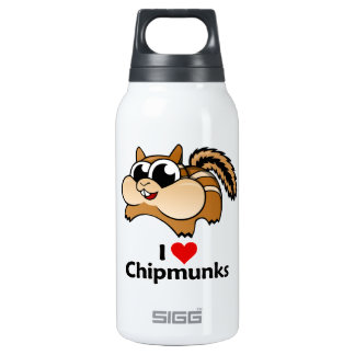 I Love Chipmunks Insulated Water Bottle