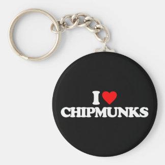 I LOVE CHIPMUNKS KEYCHAINS