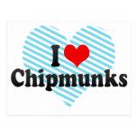 I Love Chipmunks Postcard