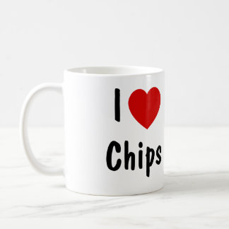 I Love Chips Coffee Mug
