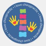 I Love Chiropractic Kids Stickers