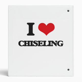 I love Chiseling 3 Ring Binders
