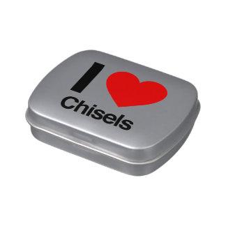 i love chisels candy tins