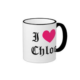 I Love Chloe Mugs