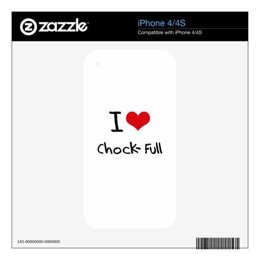 I love Chock-Full iPhone 4S Decal