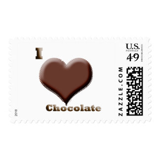 I love chocolate  12-12-08 postage