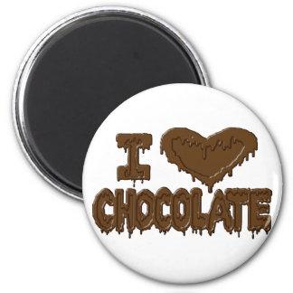 I love chocolate 2 inch round magnet