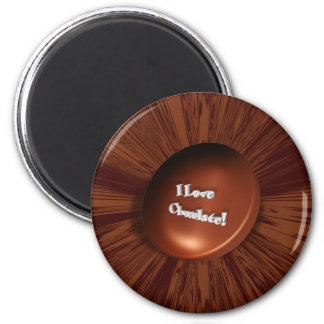 I Love Chocolate 2 Inch Round Magnet