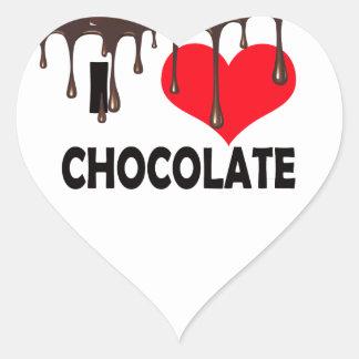 I LOVE CHOCOLATE ADESIVOS EM FORMA DE CORAÇÕES