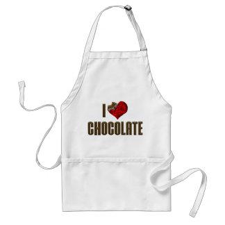 I Love Chocolate Adult Apron