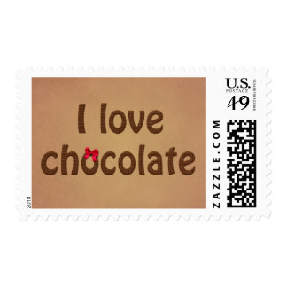 I Love Chocolate Bar Bow Stamp