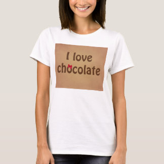 I Love Chocolate Bar Texture T-Shirt