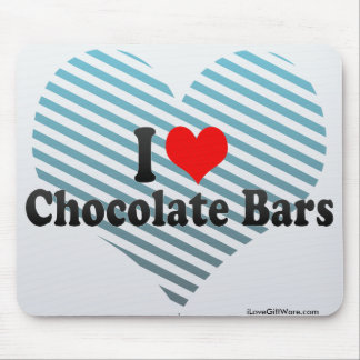 I Love Chocolate Bars Mouse Pad