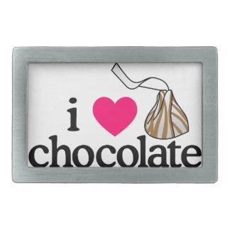 I Love Chocolate Belt Buckle