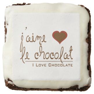 I Love Chocolate Brownie