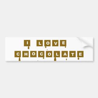 I love chocolate bumper sticker